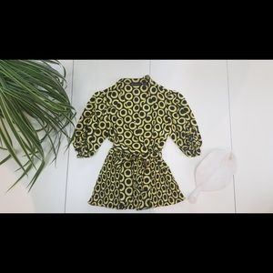 INC Yellow and Black Fitted Blouse